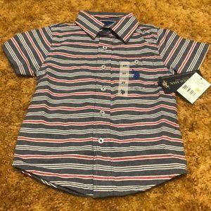 NWT US Polo Assn Boys Button Down Shirt 2T